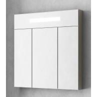 Зеркальный шкаф Smile Стайл 70 белый/орегон