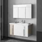 Комплект мебели для ванной комнаты Smile Стайл 80 белый/орегон