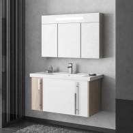 Комплект мебели для ванной комнаты Smile Стайл 100 белый/орегон