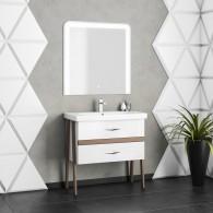 Комплект мебели для ванной комнаты Smile Флоридо 95 белый/светлый орех