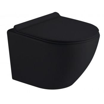 Унитаз Timo KULO TK-403 MB подвесной безободковый черный матовый