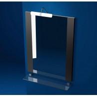 Зеркало Triton Ника 80 с подсветкой, с двумя декоративными планками по бокам (черное)