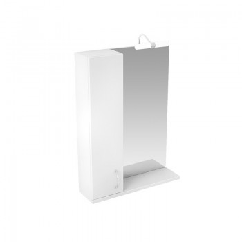 """Зеркало со шкафчиком Triton """"Джуно - 60"""" L/R (белый глянец)"""