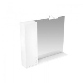 """Зеркало со шкафчиком Triton """"Джуно - 100"""" L/R (белый глянец)"""