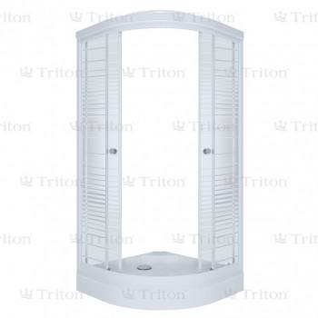 Душевой уголок Тритон Стандарт 100х100 А (низкий поддон) полосы