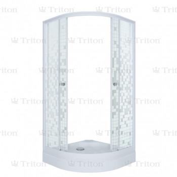 Душевой уголок Тритон Стандарт 90х90 А (низкий поддон) мозаика