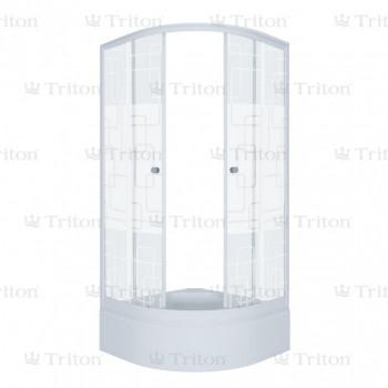 Душевой уголок Тритон Стандарт 90х90 В (средний поддон) квадраты