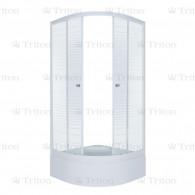 Душевой уголок Тритон Стандарт 100х100 В (средний поддон) полосы
