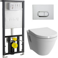 Комплект VitrA S50 9003B003-7201 кнопка хром