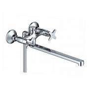 Смеситель для ванны WasserKraft Twiste 55102L с длинным поворотным изливом, хром