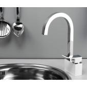 Смеситель для кухни Wasser Kraft Aller 1067WHITE с поворотным изливом